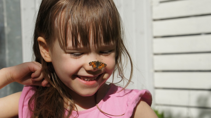 Raising butterflies means getting real close-ups